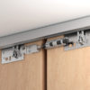 Sliding door systems provide all-round dampening